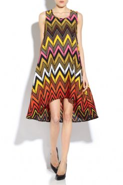 Ladies All Over Print Swing Dress